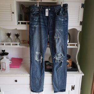 American Eagle Hi Rise Girlfriend Jeans Size 12
